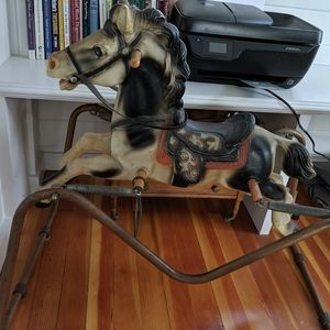 Vintage clip clop rocking horse